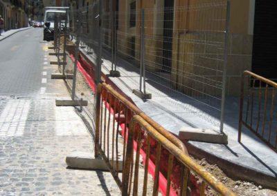 Canalizaciones en calle San Nicolas Alcoy