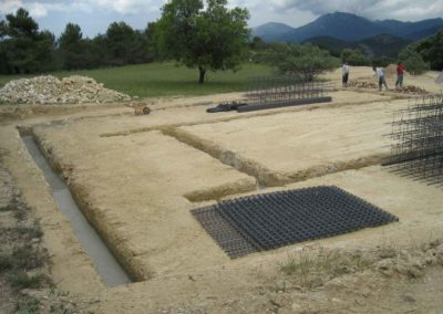 Construcción de aprisco para ganado Font Roja a