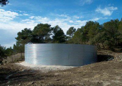Construcción de depósito metálico para prevención de incendios 3