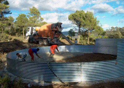 Construcción de depósito metálico para prevención de incendios