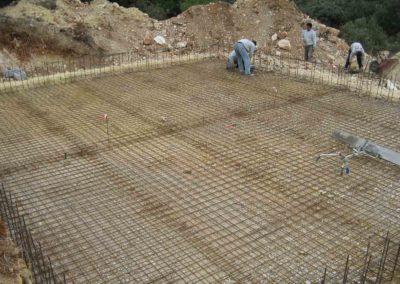 Construcción de depósitos para prevención de incendios 1