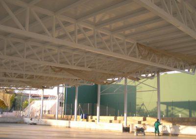 Cubrición pista polideportiva Muro de Alcoy