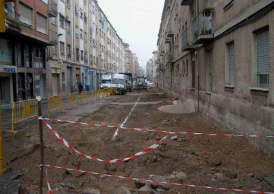 Obra civil_replanteo aceras calle Alcoy