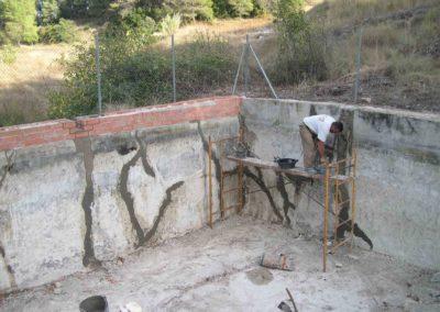 Reparación de balsas para prevención de incendios 1